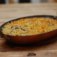 Wild Rice, Kale and Caramelized Onion Gratin