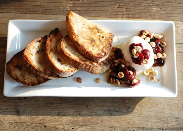 Cherries, Burrata & Hazelnuts